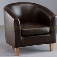 World Furniture - World Furniture Oxford Faux Leather Tub Chair