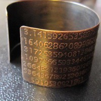 Pi Cuff Bracelet Etched in Copper | KarlaWheelerDesign - Jewelry on ArtFire