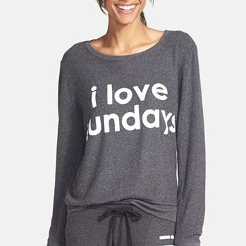 Peace Love World 'Comfy - I Love Sundays' Top