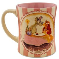 Disney Store 25th Anniversary Lady and the Tramp Mug | Drinkware | Disney Store