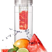 Infuser Water Bottle 27 Ounce - Made of durable Eastman Tritan - Create Your Own Flavored Water, Naturally, with Ingredients YOU Select | The Fun & Healthy Way to Enjoy Your Daily Water | Free Recipe Booklet* Included!
