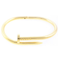 Wanderlust + Co - XL Screw Split Gold Bangle