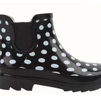 New Sunville Brand Women's Short Ankle Rubber Rain Boots