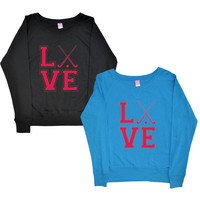 Love Field Hockey Crew Fleece-longstreth