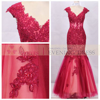 Mermaid Lace Red Prom Dress 2014, View Prom dress 2014, Choiyes Evening Dress Product Details from Chaozhou Choiyes Evening Dress Co., Ltd. on Alibaba.com