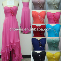 Pink classic Sweetheart high-low hem Appliqued Chiffon party dresses for pregnant women, View party dresses for pregnant women, Choiyes Product Details from Chaozhou Choiyes Evening Dress Co., Ltd. on Alibaba.com