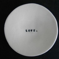 LOVE wafer dish by raedunn on Etsy