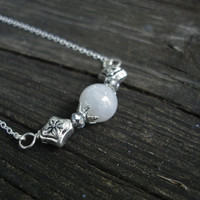 Moonstone necklace, sterling silver necklace gemstone necklace