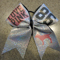 Love Pink Spandex Cheer Bow