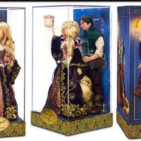 Disney Designer Fairytale Rapunzel And Flynn Dolls Limited edition
