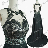 Lace Prom Dress Black Lace Formal Dresses Open Back Sexy Strapless Wedding Party Dress Prom Dresses Bridesmaid Dress Ball Gown