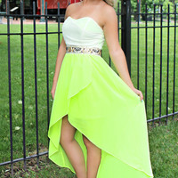 Egyptian Lover Dress - Neon Yellow