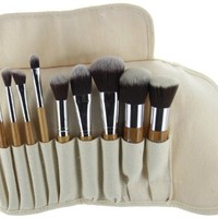 ETA Ultra Natural Goat Hair Premium Makeup Brush Set (10 pcs, Bamboo)