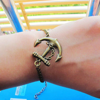 Adjustable Vintage Hunger Games Bacelet Anchor by sevenvsxiao