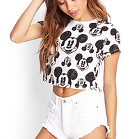 Smiling Mickey Print Tee