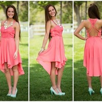 When in Rome Dress Coral