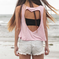 Pink Heart Cut-out Tank | Wild Daisy