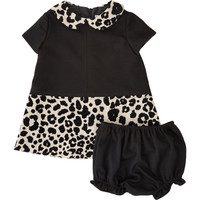Barneys New York Leopard Jacquard Dress with Bloomers Sale up to 70% off at Barneyswarehouse.com
