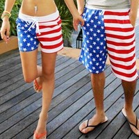 Stars & Stripes Matching Couple's Swim Shorts from P.S. I Love You More Boutique