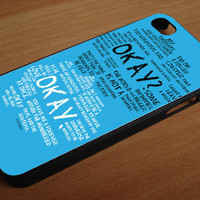 okay fault in our star for iphone 4/4s, iPhone 5/5c/5s.Samsung galaxy S3,S4,S5 , color Black and White