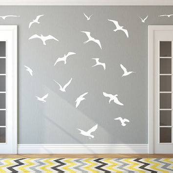 Seagulls Set of 18 Vinyl Wall Decals 22426