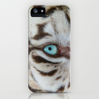 EYE OF THE WHITE TIGER iPhone & iPod Case by Catspaws | Society6