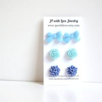 Stud earrings Blue stud earrings Turquoise Stud by JPwithLove