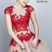 Lace and Tulle Dress by Sherri Hill