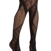 ModCloth Film Noir Prominent in Patterns Tights