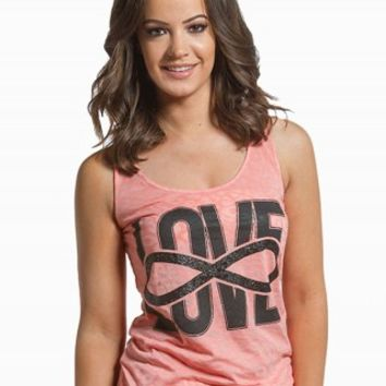 INFINITY LOVE BURNOUT GRAPHIC TANK