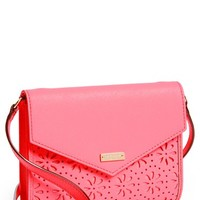 kate spade 'cedar street perforated Monday' leather crossbody bag