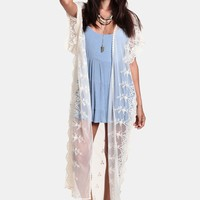 In The Clear Lace Kimono