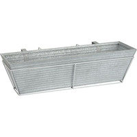 oscar rectangular rail planter and metal rail frame