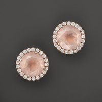 Dana Rebecca Designs 14K Rose Gold, Diamond, and Pink Quartz Anna Beth Earrings