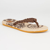 Roxy Waikiki Womens Sandals Chocolate  In Sizes