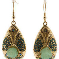 Green Rosette Earrings - Modeets