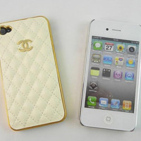 Cream/Ivory Luxury Chanel Inspired Leather Hard by hEllOoPiNk