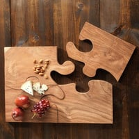 Teak Puzzle Serving Tray - Furniture &amp; Decor - Home - Gaiam