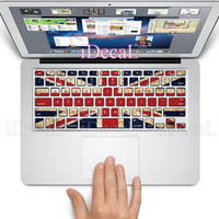 union jack keyboard decal mac pro decals mac pro stickers by yucao