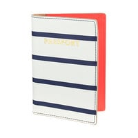 J.Crew Womens Stripe Leather Passport Case