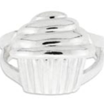 Sterling Silver Cupcake Ring: Personalized Boutique, Inc.