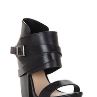 Black BCBG Wilder High-Heel Ankle-Cuff Day Sandal