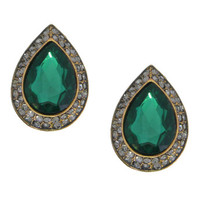 Shimmering Emerald Renaissance Earrings - Made in Italy