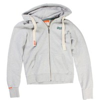 Superdry Grey Orange Label Vintage Zip Hood - SqueakyTee