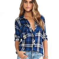 Rails Carmen Button Down in Blue
