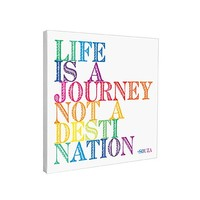 Life is a Journey Canvas