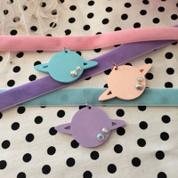 Great Pastel Planet Velvet Chokers