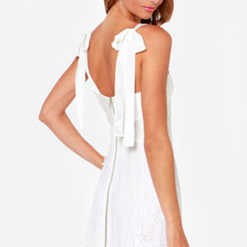 For Love & Lemons Dallas Ivory Lace Dress