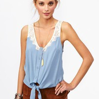 Tied Crochet Top in Clothes at Nasty Gal