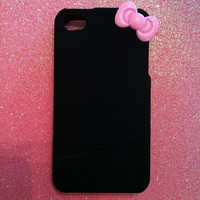 iPhone 4/4s Case with Pink Hello Kitty Bow by JMxSweets on Etsy